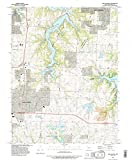 YellowMaps Lake Jacomo MO topo map, 1:24000 Scale, 7.5 X 7.5 Minute, Historical, 1990, Updated 1995, 26.9 x 21.9 in - Tyvek
