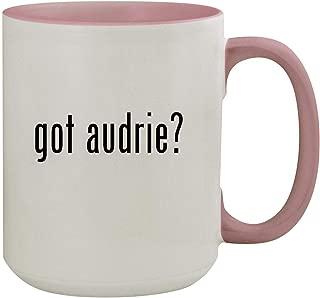 got audrie? - 15oz Colored Inner & Handle Ceramic Coffee Mug, Pink