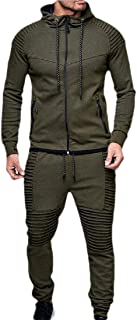 Men's 2 Piece Outfit Sport Workout Gym Tracksuit Hoodies Joggers Set