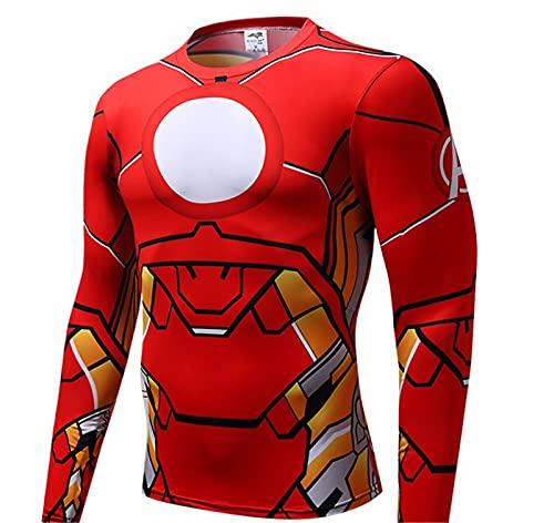 Hierro hombre compresión camiseta hombre compresión hombre deporte apretado ciclismo camiseta manga corta medias camisetas entrenamiento entrenamiento entrenamiento base capas de base camiseta