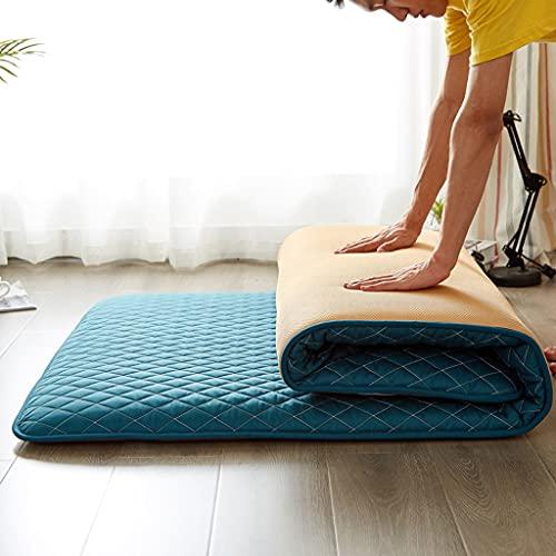 MOSU Japonés Tatami Colchón Futón, Plegable Colchón Futón Múltiples Tamaños Espesar Colchón Estudiante Dormitorio Camping Sleeping Pad -绿-120x190cm(47x75inch)