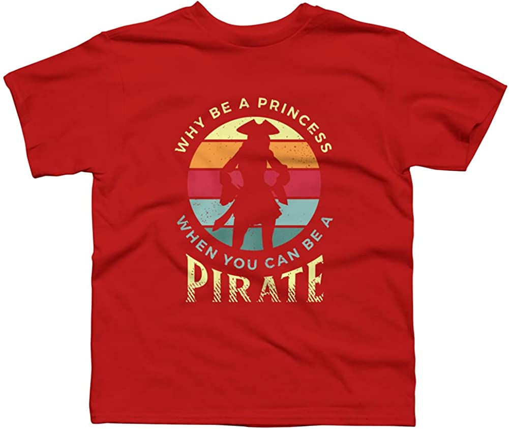 Design By Humans Funny Pirate Freebooter Buccaneer Boys Graphic Tee