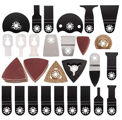 ZYL-YL Vibration Tool Grinding pad, 100pcs for Dremel Makita Mix Oscillating Multitool Saw Blades