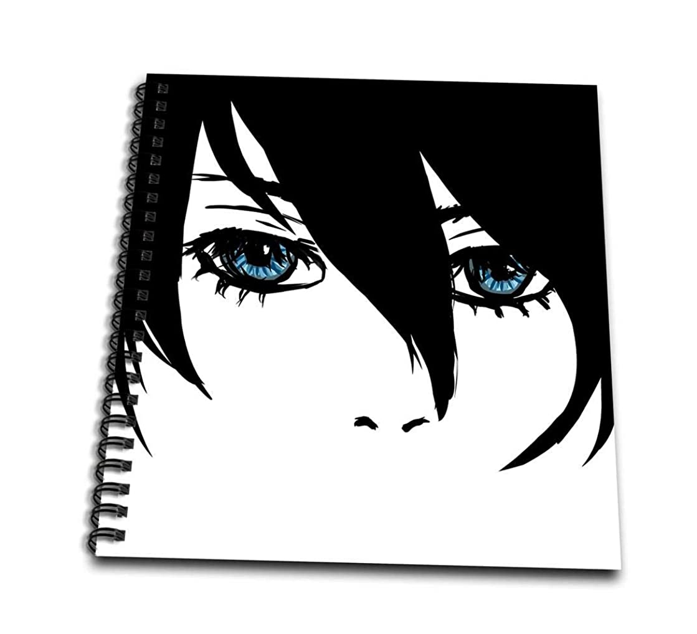3dRose db_108592_1 Michaels Secret Anime Face-Connie Ashlyn Art-Drawing Book, 8 by 8
