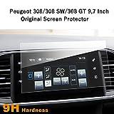 [Lot de 2] films de protection d'écran de navigation 9,7 pouces pour Peugeot 308 SW GT – Film transparent en PET LFOTPP