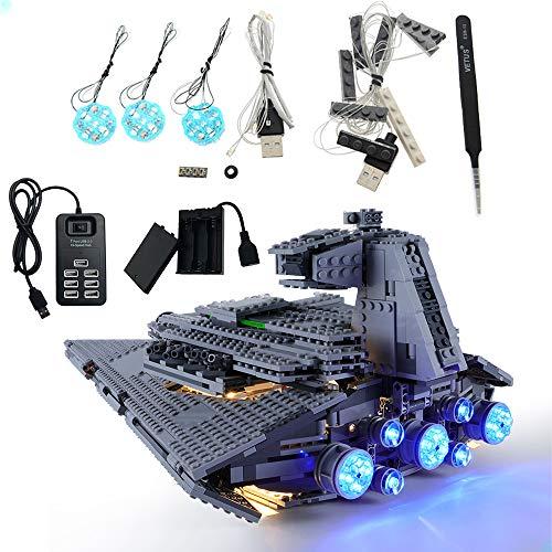 GEAMENT - Kit di luci a LED per Star Wars Imperial Star Destroyer, modello compatibile con Lego 75055 (LEGO set non incluso)