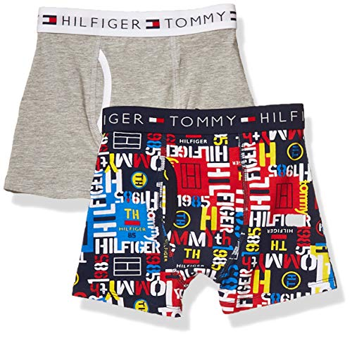 Tommy Hilfiger Boys' Boxer Briefs (Pack of 2), Graffiti, Small (6/7)