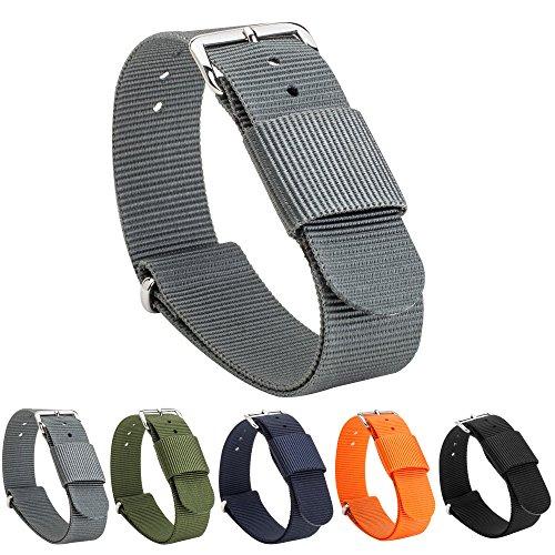 Gemony Nato Strap Premium Ballistic Nylon Watch Band 28 colori disponibili per Diver Orologi, Larghezza di banda 18 20 millimetri, WB-103D