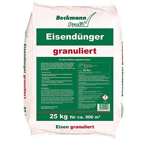 Eisendünger 25 kg granuliert Rasendünger Dünger Moosverdränger für ca. 900 m²