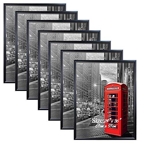 PETAFLOP 24 x 36 Frame Black 24x36 Picture Frames for Wall, 7 Pack Large Movie Poster Frames
