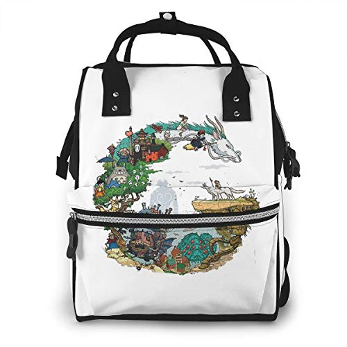 Studio Ghibli Anime Art Diaper Bag Multi-Function Waterproof Travel Backpack Nappy Bags for Baby Care Mummy Backpack