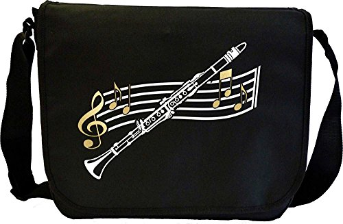 Clarinet Curved Stave - Sheet Music Document Bag Musik Notentasche MusicaliTee