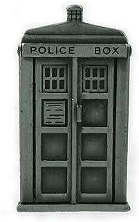 Pewter Style Look - TARDIS - Lapel Pin