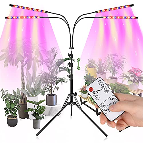 Otdair Grow Light with Stand, Full Spectrum Plant Light for...
