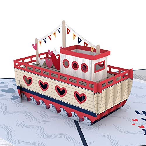 Lovepop You Float My Boat Pop Up Karte – 3D Karten, Valentinstag Pop-Up Karte, Karte für Frau, Jubiläumskarte, Romance Karte