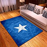 Alfombra Tacto Suave Moderna Abstracta Rugs Estrellas Azules...