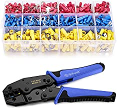 Wire Terminals Crimping Tool, Qibaok Insulated Ratcheting Terminals Crimper Kit of AWG22-10 with 800PCS Insulated Butt Bullet Spade Fork Ring Crimp Terminals Connectors
