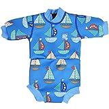 Splash About Happy Nappy - Traje de neopreno para niños, color Azul (Barcos),...