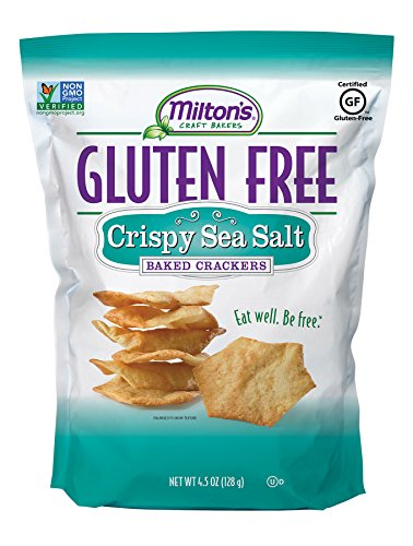 Milton's Gluten Free Baked Crackers, Sea Salt, 4.5 Ounce Bag (Pack of 12)