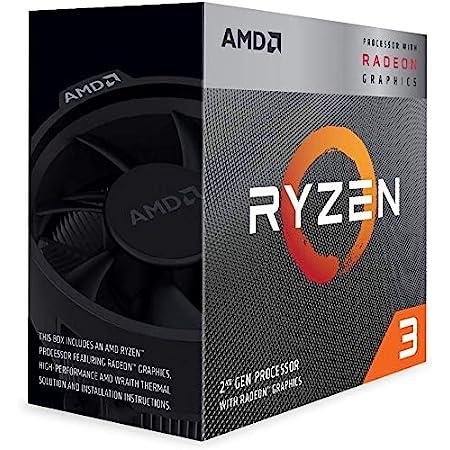 AMD Ryzen 3 3200G with Wraith Stealth cooler 3.6GHz 4コア / 4スレッド 65W【国内正規代理店品】 YD3200C5FHBOX