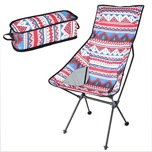 ELQ Folding Camping Chair - High Back Camp Chairs with Headrest Pocket for Outdoor Backpacking Hiking Travel Picnic Fishing,Pink