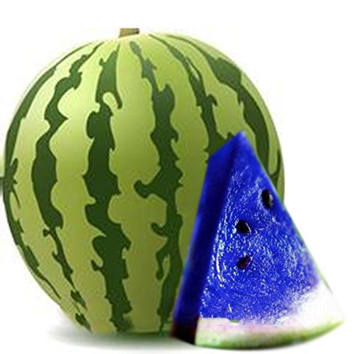 Vente! 30 PCS/Sac Blue Seeds chair de melon d'eau Graines de melon d'eau Bonsai plantes Semences non OGM Fruits comestibles rouges