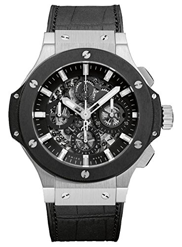 Hublot Big Bang Aero Black Skeleton Steel Automatic Mens Watch 311.SM.1170.GR