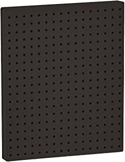 Azar 771620-BLK Pegboard 1-Sided Wall Panel, Black Solid Color, 2-Pack