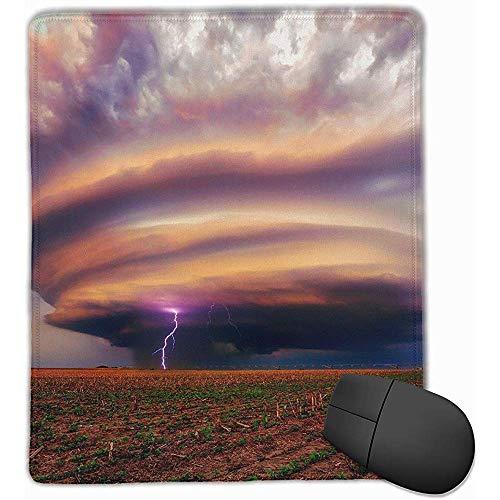 Mauspads Fulmination Storm Mauspad Genähter Rand rutschfeste Unterlage Mousepad Laptop Computer Pc