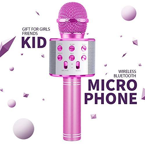 Mädchen Geschenke 5 6 7 Jahre, Bluetooth Karaoke Mikrofon KinderSpielzeug ab 8 9 10 Jahren Kinder JungenMädchen Geburtstags Geschenke ab 4 5 6 Jahren Kinder Party Geschenk ab Mädchen Kinder Geschenk
