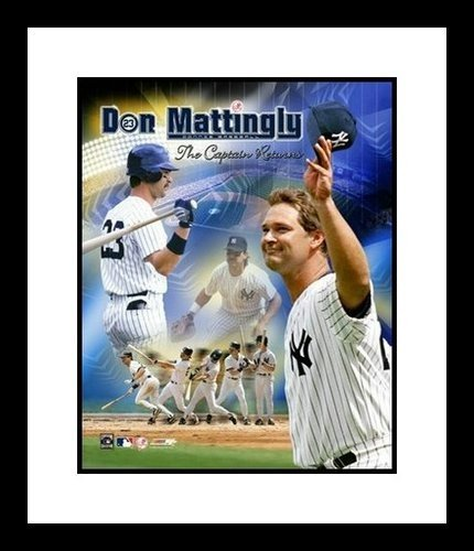 Don Mattingly New York Yankees MLB Framed 8x10 Photograph The Captain Returns