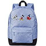 Disney Mickey Mouse Through The Years Backpack for Men, Women & Kids Denim Blue
