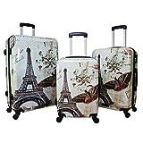 World Traveler Destinations Paris - Juego de 3 peonzas, Paris, Una talla