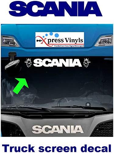 myrockshirt Scania Schriftzug für Windschutzscheibe LKW Truck mit Logo Greif Aufkleber,Sticker,Decal,Autoaufkleber,UV&Waschanlagenfest,Profi-Qualität