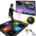 FANGDA Individual Dance Mat, Soundproof Game Pad TV Computer Dual-Use Somatosensory Dance Mats for Adults Children Unlimited Update Song Game from FANGDA