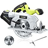 CACOOP 20V MAX 6' Cordless Circular Saw With 4.0Ah Battery and Rapid Charger,Include Two 6'...