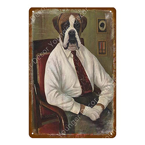 ivAZW Animal Wall Sticker Metal Signs Gifts Pub Bar Home Decor Vintage Art Painting Poster 20x30cm YD2965F