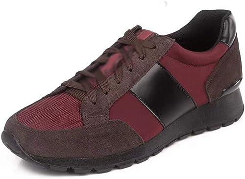 schuhe de Cuero Zapato de los herren jóvenes Tendencia Ocio Baja Ayuda Tamaño Transpirable 24.0cm-27.0cm schuhe de Tablero rot. Ocio