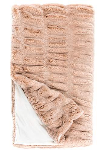 Donna Salyers Faux Fur Throw Blanket - Rose Mink (60X86) -  Fabulous-Furs