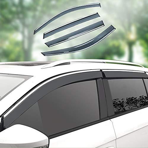 Xtrdye Auto Windabweiser Kompatibel Mit Peugeot 3008, Acryl Glastür Seitenfenster Sonnenblende Regen Und Schnee Sonnenschutz (4er Set)
