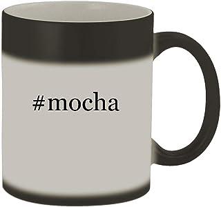 #mocha - 11oz Hashtag Magic Color Changing Mug, Matte Black
