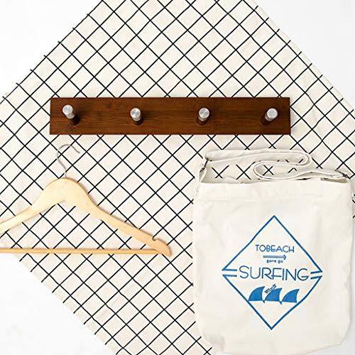 YAYA Garderobe Nordic Massivholz-Mantel Wandbehang Rack-Einfach Mehrzweckkleiderhaken Schlafzimmer Aufhänger Startseite -Schlüsselspeicherung Haken Haushalt Garderobenleiste (Color : Brown)