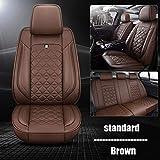 SUNQQJ Fundas Asientos Coche Universales para BMW E46 E90 E91 E92 E39 E30 E60 E36 E87 E34 G30 F10 F11 F20 F30 E84 E83 320I 520 X5 E70 E53 Serie 1 3 4 5 6 7 Accesorios Coche, Estándar marrón