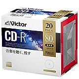 ビクター(Victor) 音楽用 CD-R AR80FP20J1 (48倍速/20枚) ホワイト