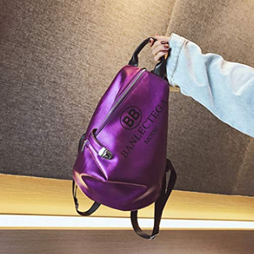 No-logo Backpack, Large Capacity, Beautiful and Practical, Can go Out or Carry in School (Color : C)