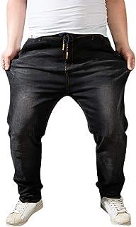 Xmiral Jeans Uomo Strappato Denim Straight Fit Usato Strappati Fori Casual Cotone Moda Pantaloni