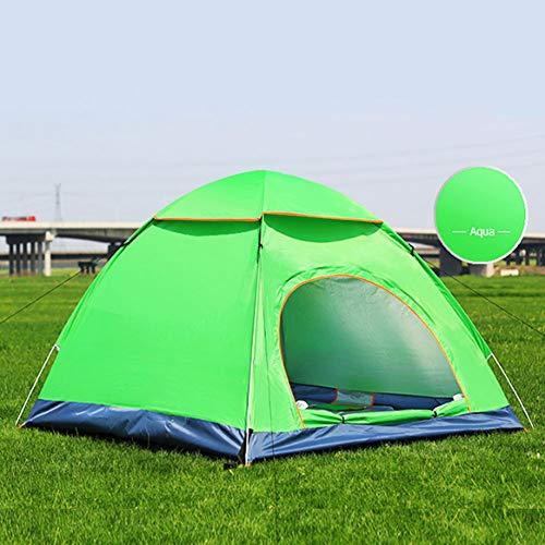 3-4 Persoon Easy Up Beach Tent UPF 50 Zonnekap luifel Outdoor Sport Paraplu Zonnekap Tent met Uitgebreide Rits Porch Draagbaar