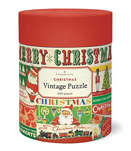 Cavallini & Co. Vintage Christmas 500 Piece Puzzle, Multi