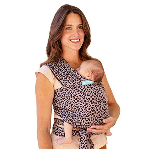 Moby Wrap Baby Carrier | Classic | Baby Wrap Carrier for Newborns & Infants | #1 Baby Wrap | Go to Baby Gift | Keep baby safe & secure | Adjustable for all body types | Perfect for Mom & Dad | Leopard