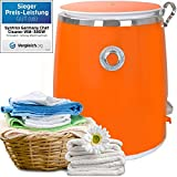 Syntrox Germany–3KG de Wm 380W lavadora con camping centrifugado lavadora Mini lavadora (Naranja)